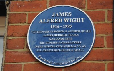 Blue plaque unveiled at James Herriot's Sunderland birthplace in Roker